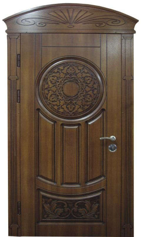 Двери уличные, модель 67 Премиум, 970*2050, гнутый профиль, металл 2 мм, коробка 110 мм, VINORIT, замокMOTTURА