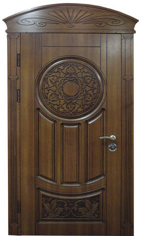 Двери уличные, модель 67 Премиум, 970*2050, гнутый профиль, металл 2 мм, коробка 110 мм, VINORIT, замокMOTTURА, фото 2