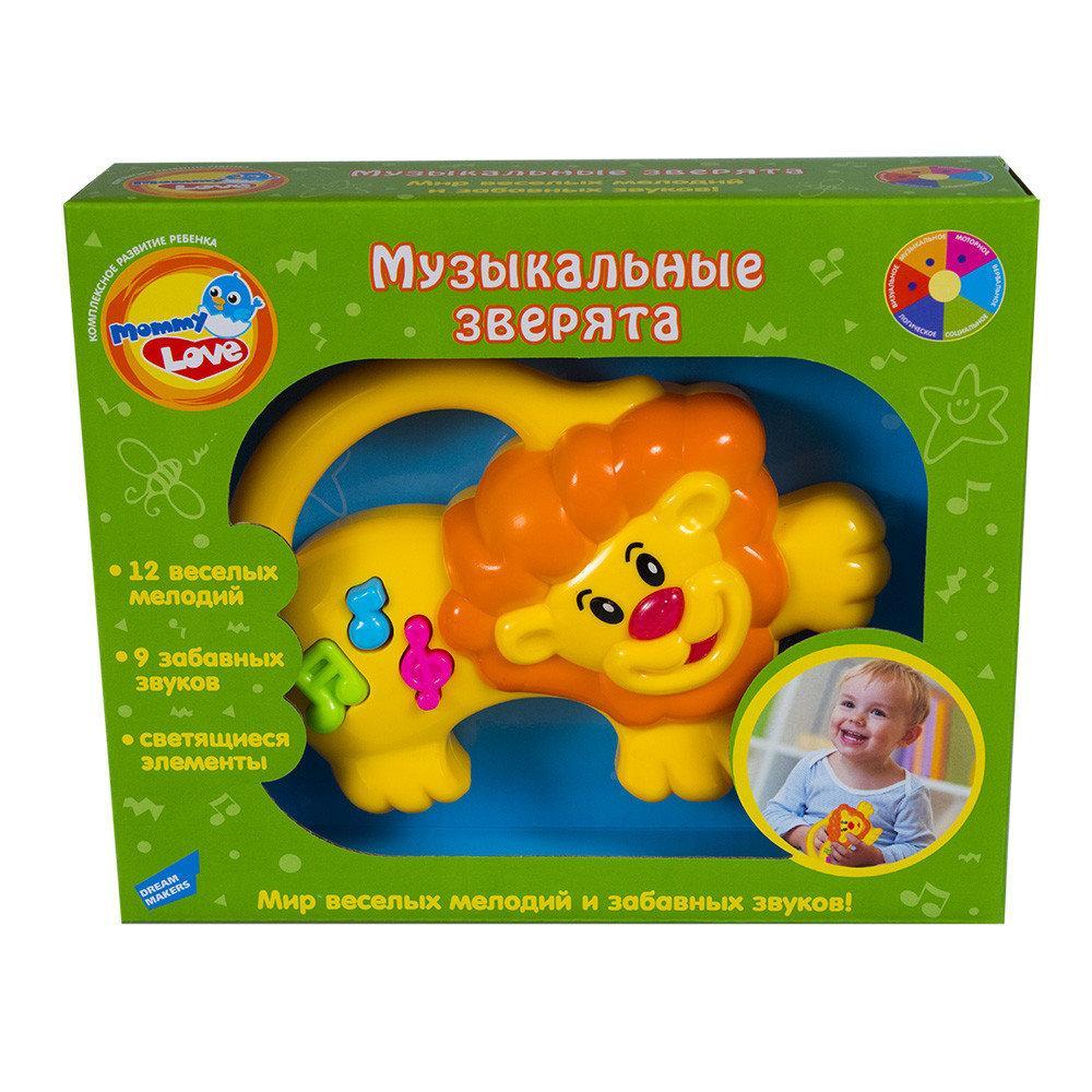 Развивающая игрушка Музыкальные зверята. Оригинал Mommy Love 6001A