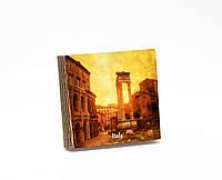 Шкатулка-книга на магните  slim с 4 отделениями Закат над старым Римом