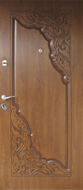 Двери уличные, модель 68 Премиум 970*2050, коробка 110 мм, металл 2 мм, VINORIT, замок MOTTURA, 3D фрезеровка