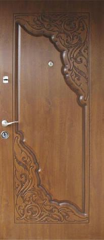 Двери уличные, модель 68 Премиум 970*2050, коробка 110 мм, металл 2 мм, VINORIT, замок MOTTURA, 3D фрезеровка , фото 2