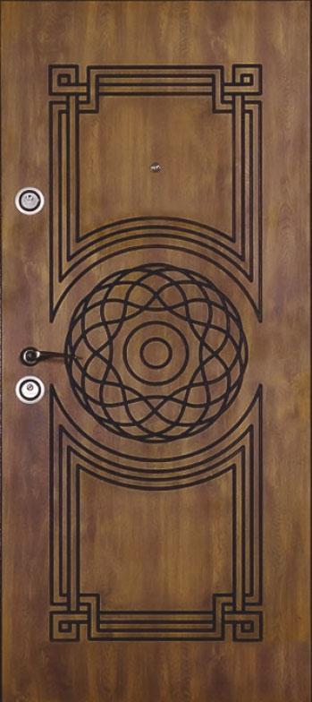 Двері вуличні, модель 69 Преміум 970*2050, метал 2 мм, коробка 110 мм, VINORIT, замки MOTTURA, патина