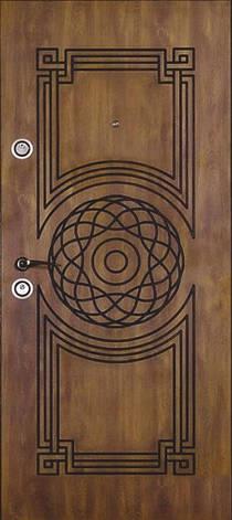 Двері вуличні, модель 69 Преміум 970*2050, метал 2 мм, коробка 110 мм, VINORIT, замки MOTTURA, патина, фото 2