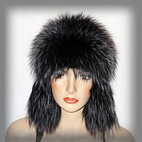 Ушанка женская меховая из чернобурки (тонированная), фото 1