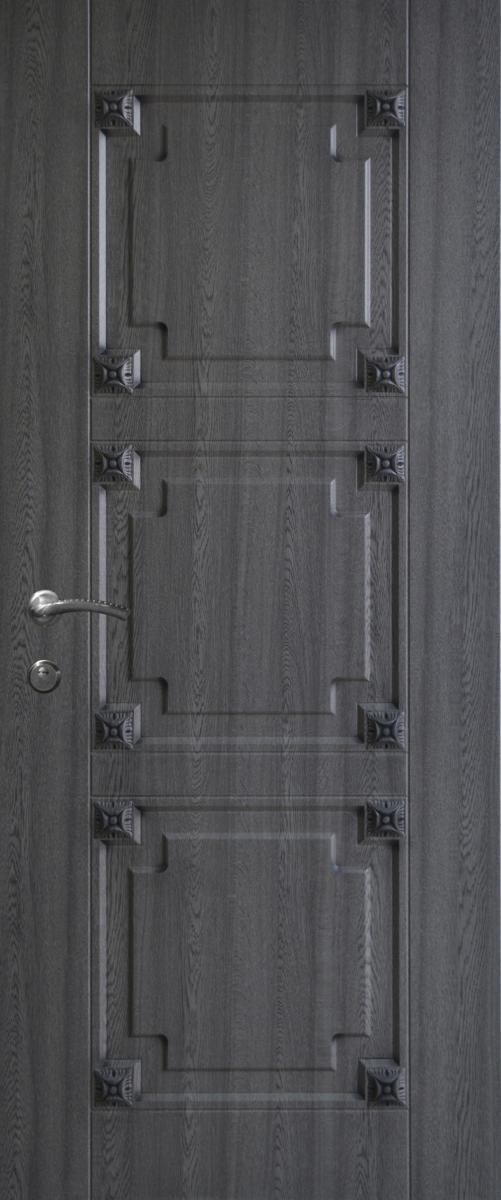 Двері вуличні, модель 74 Преміум 970*2050, метал 2 мм, коробка 150 мм, накладки 16мм, MOTTURA, патина