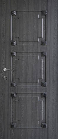 Двери уличные, модель 74 Премиум 970*2050, металл 2 мм, коробка 150 мм, накладки 16мм, MOTTURA, патина, фото 2