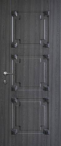 Двері вуличні, модель 74 Преміум 970*2050, метал 2 мм, коробка 150 мм, накладки 16мм, MOTTURA, патина, фото 2