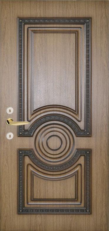 Двери уличные, модель 75 Премиум 970*2050, металл 2 мм, коробка 150 мм, накладки 16мм, MOTTURA, патина