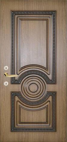 Двери уличные, модель 75 Премиум 970*2050, металл 2 мм, коробка 150 мм, накладки 16мм, MOTTURA, патина, фото 2
