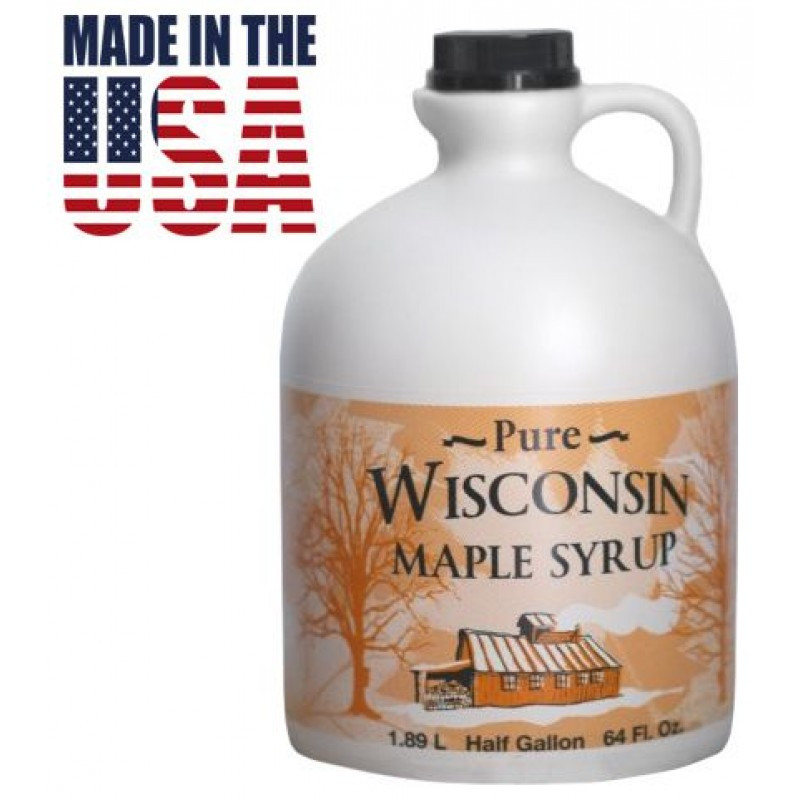 Кленовый сироп Wisconsin Pure Maple Syrup Grade B, 1.89 л. США