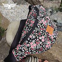 Поясная сумка с цветочным принтом, фото 1