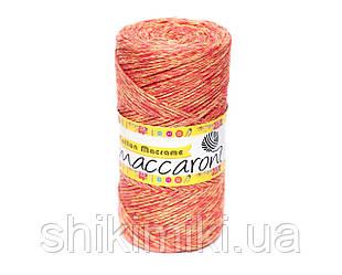 Эко Шнур Cotton Macrame, цвет Коралово-желтый