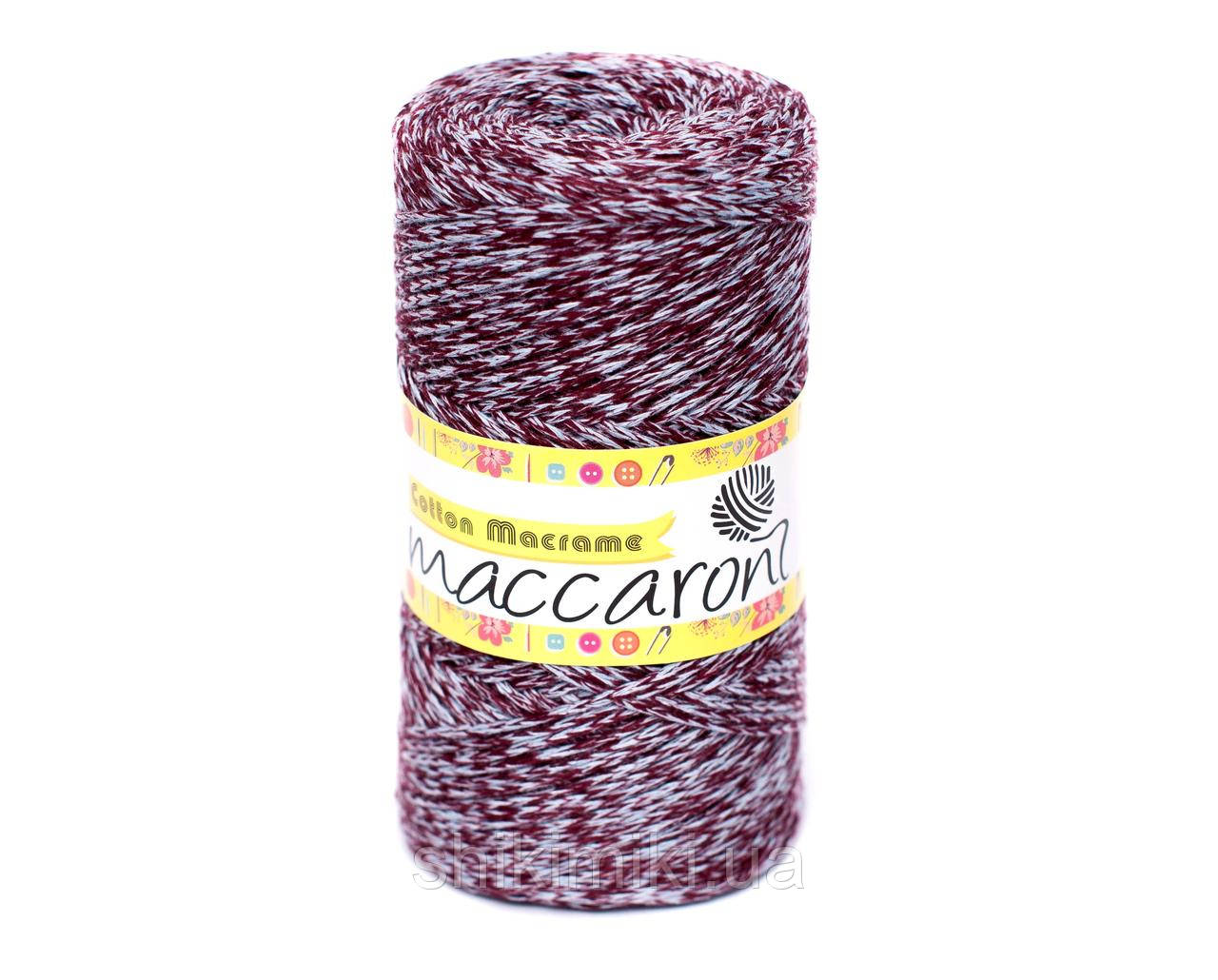 Эко Шнур Cotton Macrame, цвет Бордово-серый