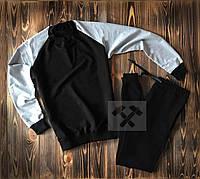 Спортивний костюм чорний комбо без принта на весну
