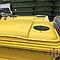 Контейнер пластиковый для мусора с плоской крышкой 1100 л желтый, фото 3
