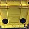 Контейнер пластиковый для мусора с плоской крышкой 1100 л желтый, фото 2