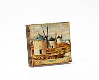 Шкатулка-книга на магните  slim с 4 отделениями Ветряные мельницы