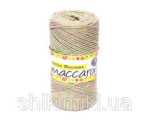 Эко Шнур Cotton Macrame, цвет Салатово-бежевый