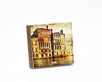 Шкатулка-книга на магните  slim с 4 отделениями Традиционные венецианские дома