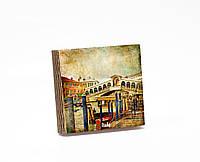 Шкатулка-книга на магните  slim с 4 отделениями Вид с пристани