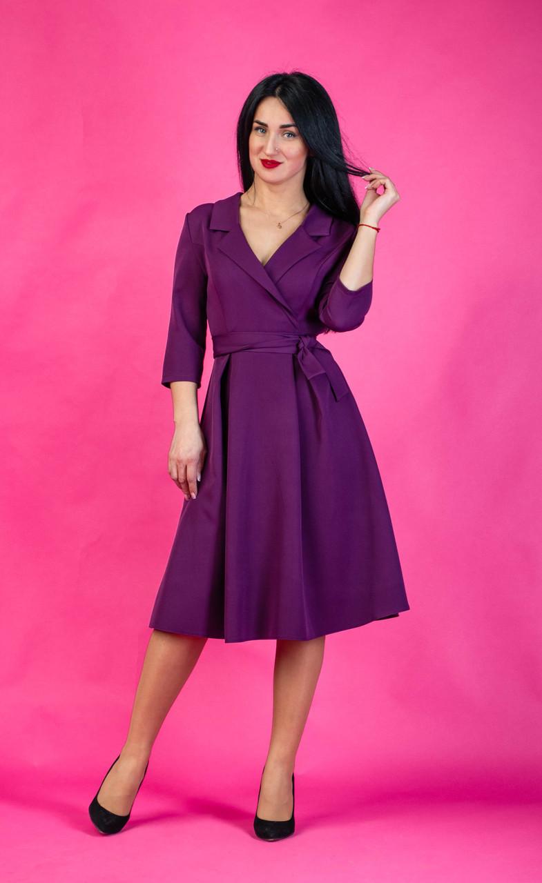 1a4b1d96868 Женское однотонное платье миди в расцветках - Оптово-розничный магазин