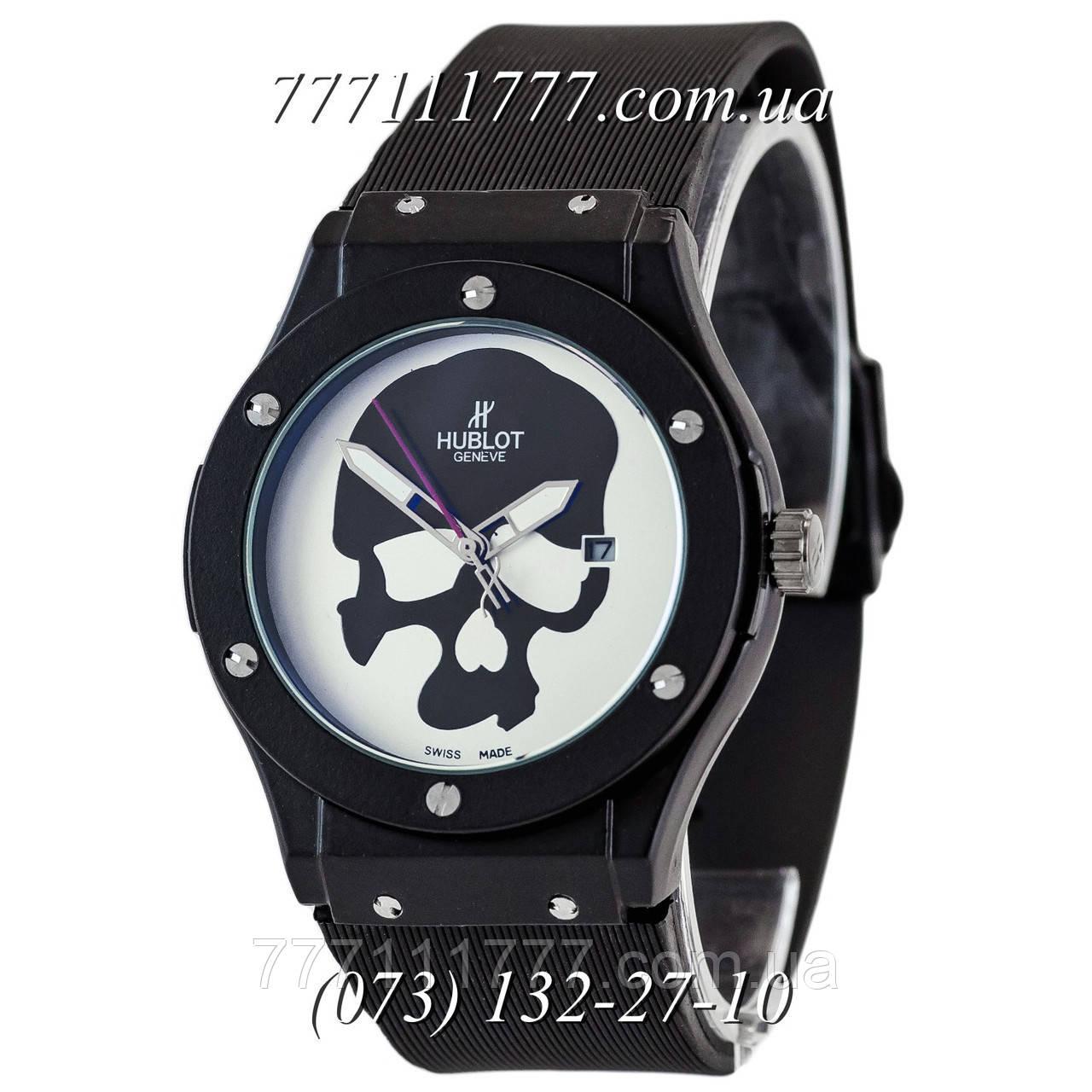 edd9cef3 Часы мужские наручные Hublot Classic Fusion Skull Quartz Black-Black-White