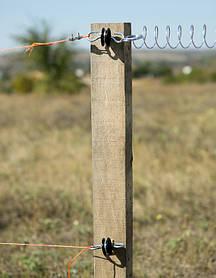 В качестве проводников в электрических ограждениях применяют бечевку, проводящую ток тесьму, либо провод.