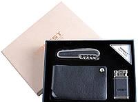 Подарочный набор (зажигалка, нож, визитница)