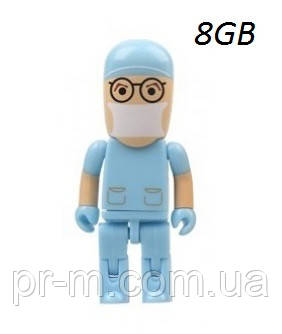 Флешка врач 8 Гб, голубая, фото 1