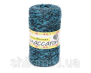 Эко Шнур Cotton Macrame, цвет Бирюзово-черный