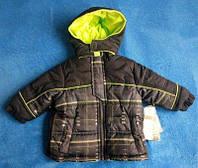 Детская теплая куртка для мальчика евро-зима IxTreme 12 месяцев США с капюшоном ветро-, водозащитная