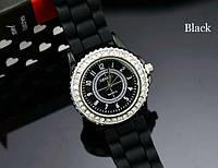 Жіночі годинники Geneva Сrystal чорні, фото 1