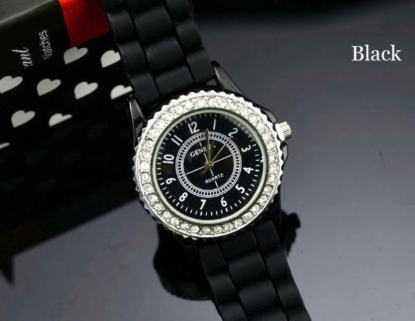 Жіночі годинники Geneva Сrystal чорні