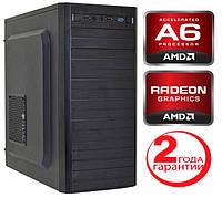 Персональный компьютер игровой AMD A6-7400K (3,9GHz) / DDR3_4Gb / HDD_320Gb / Radeon R5_250 2Gb
