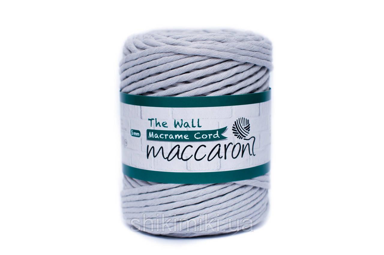 Эко шнур Macrame Cord 5 mm, цвет Светло серый
