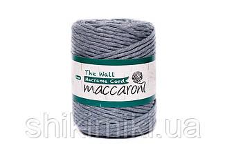 Эко шнур Macrame Cord 5 mm, цвет Серый