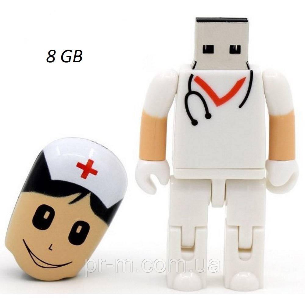 Флешка врач 8 Гб, белая, фото 1