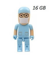 Флешка врач 16 Гб, голубая, фото 1