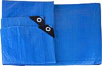 Тент тарпауліновий універсальний  4х6 м синій (90 г/кв.м.) (10)