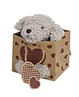 Собачка плюшевая в мешочке 11см Гранд Презент 10016242