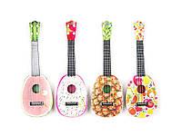 Гитара, струны 4шт, медиатор, 4 вида, в сумке