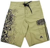 Бриджи пляжные мужские adidas Move shorts II E89774 (бежевые, полиэстер, для купания, с логотипом адидас) Мужчин, Шорты, Одежда