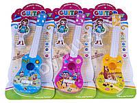 Гитара 41см, струны 4шт, медиатор, 3 вида, на листе