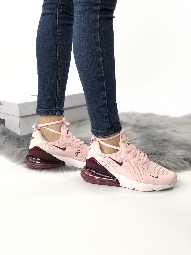 3ab08c23 Женские кроссовки в стиле Nike Air Max 270 (beige/white),Реплика ААА ...