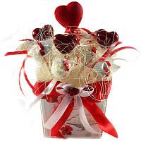 Букет из конфет Рафаэлло 11 с сердечками