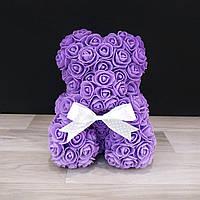 Мишка Из Роз Фиолетовый (на подарок девушке, к 8 марта)