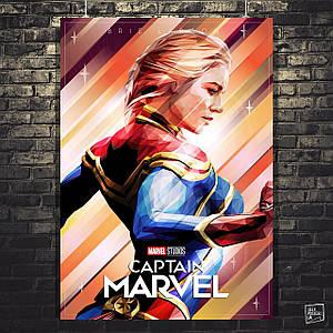 Постер Капитан Марвел, Captain Marvel (2019). Размер 60x43см (A2). Глянцевая бумага
