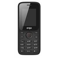 """Мобильный телефон ERGO F182 Point Black черный (2SIM) 1.77"""" 32/32МБ+SD 0,8Мп оригинал Гарантия!"""