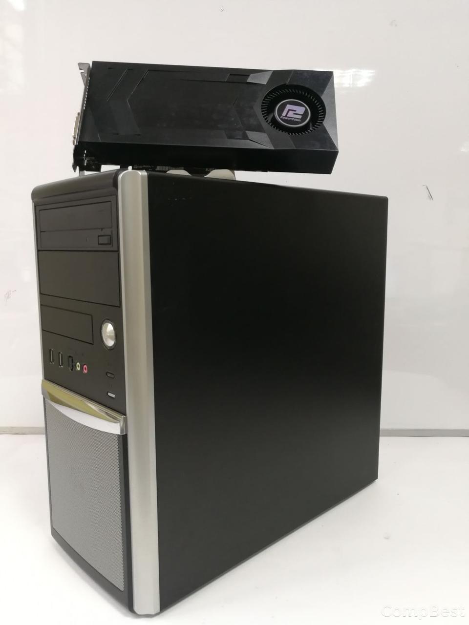 EuroCom Tower / Intel® Core™ i5-2400 (4 ядра по 3.10 - 3.40 GHz) / 12GB DDR3 / 500GB SSHD / Radeon RX470 4GB DDR5 256bit / HDMI,DVI,DP / БП-600W